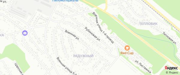 Военная 4-й проезд на карте Улан-Удэ с номерами домов