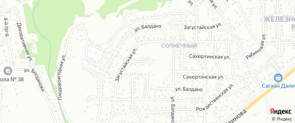 Рождественская улица на карте Улан-Удэ с номерами домов