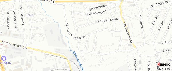 Третьяковский проезд на карте Улан-Удэ с номерами домов