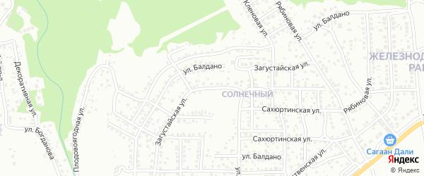 Загустайская улица на карте Улан-Удэ с номерами домов