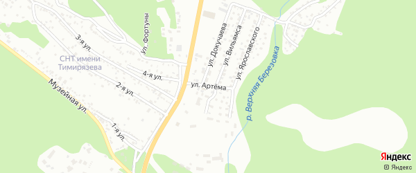 Улица Артема на карте Улан-Удэ с номерами домов