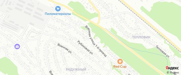 Военная 1-й проезд на карте Улан-Удэ с номерами домов
