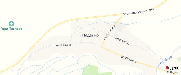 Карта села Надеино в Бурятии с улицами и номерами домов