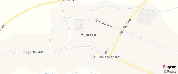 Переулок Ленина на карте села Надеино с номерами домов