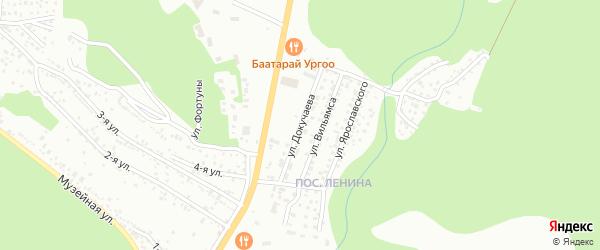 Улица Докучаева на карте Улан-Удэ с номерами домов