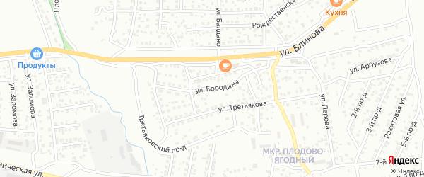 Улица Бородина на карте Улан-Удэ с номерами домов
