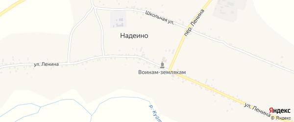 Улица Ленина на карте села Надеино с номерами домов