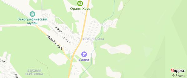 Карта поселка Ленины города Улан-Удэ в Бурятии с улицами и номерами домов