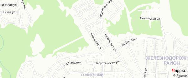 Кленовая улица на карте Улан-Удэ с номерами домов