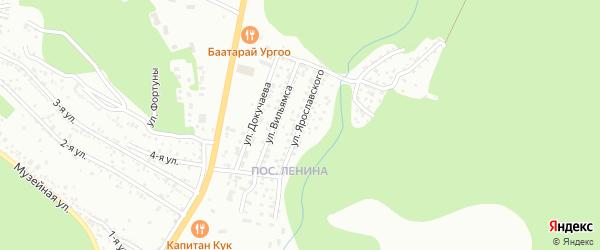 Улица Ярославского на карте Улан-Удэ с номерами домов