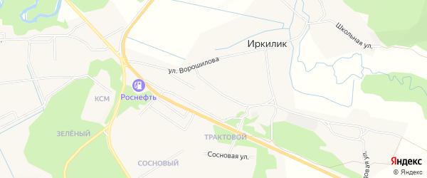 Карта села Иркилика в Бурятии с улицами и номерами домов