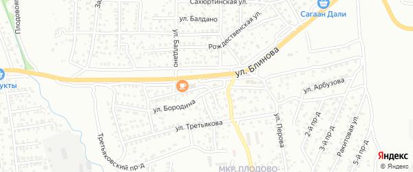 Улица Арбузова на карте Улан-Удэ с номерами домов