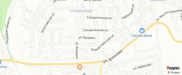 Улица Балдано на карте Улан-Удэ с номерами домов