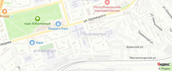 Улица Котовского на карте Улан-Удэ с номерами домов