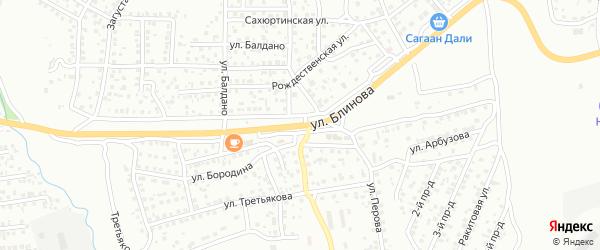Улица Блинова на карте Улан-Удэ с номерами домов