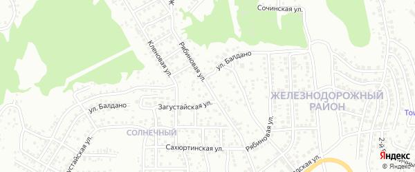 Рябиновая улица на карте Улан-Удэ с номерами домов