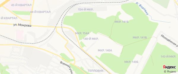 140-й микрорайон на карте Улан-Удэ с номерами домов