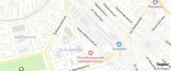 Краснофлотская улица на карте Улан-Удэ с номерами домов
