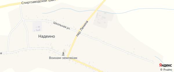 Школьная улица на карте села Надеино с номерами домов