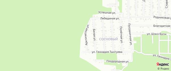 Арктическая улица на карте территории ДНТ Соснового с номерами домов