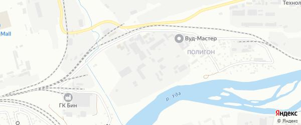 Поселок Полигон на карте Улан-Удэ с номерами домов