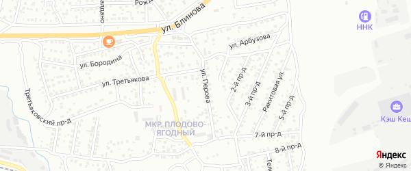 Улица Перова на карте Улан-Удэ с номерами домов