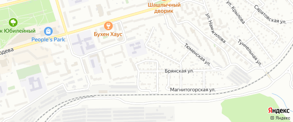 Краснофлотский переулок на карте Улан-Удэ с номерами домов