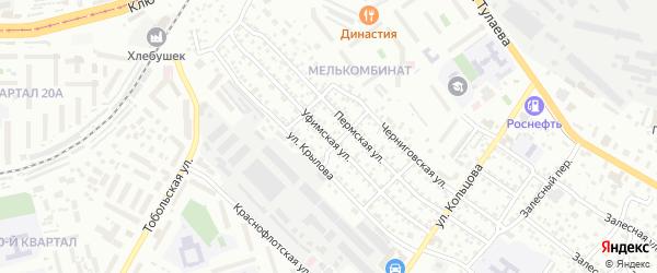 Уфимская улица на карте Улан-Удэ с номерами домов