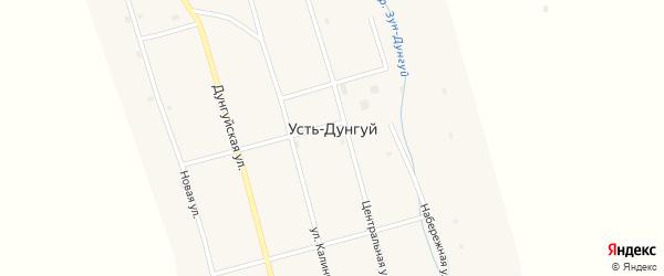 Центральная улица на карте улуса Усть-Дунгуй с номерами домов