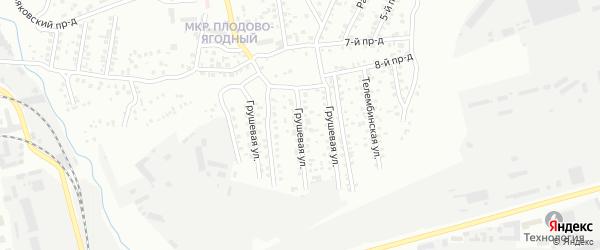 Грушевая улица на карте Улан-Удэ с номерами домов