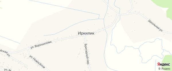 Улица Комаровка на карте села Иркилика с номерами домов