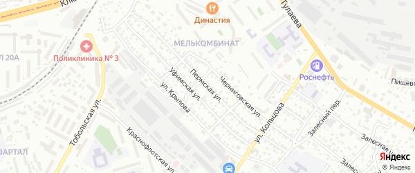 Пермская улица на карте Улан-Удэ с номерами домов