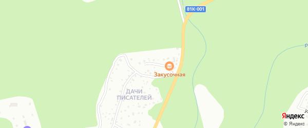 Улица Дачи писателей на карте микрорайона Верхней Березовки с номерами домов