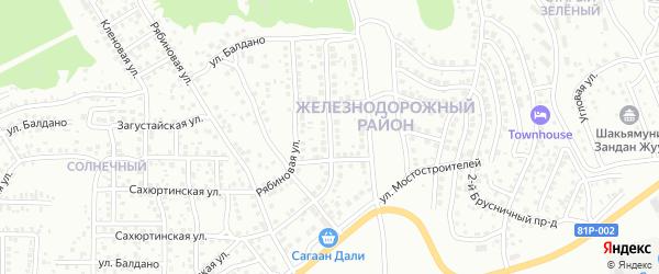 Улица Транспортных строителей на карте Улан-Удэ с номерами домов