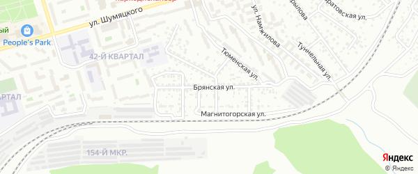 Брянская улица на карте Улан-Удэ с номерами домов