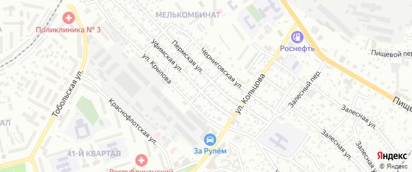 Казанская улица на карте Улан-Удэ с номерами домов
