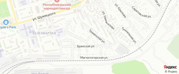 Ачинский переулок на карте Улан-Удэ с номерами домов