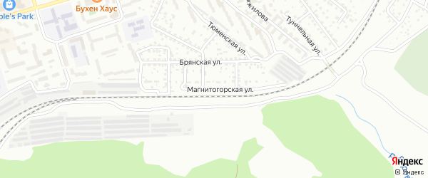 Магнитогорская улица на карте Улан-Удэ с номерами домов