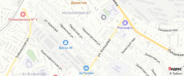 Черниговская улица на карте Улан-Удэ с номерами домов