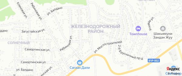 Зеленоградская улица на карте Улан-Удэ с номерами домов