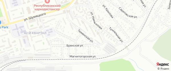 Тюменская улица на карте Улан-Удэ с номерами домов
