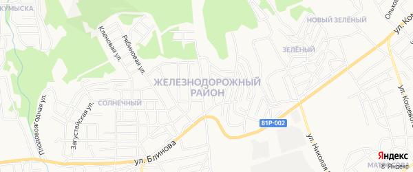 СНТ Пионер 2 Ж/Д р-он на карте Улан-Удэ с номерами домов