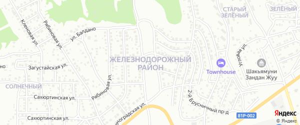 Смородиновая улица на карте СНТ Пионера 2 Ж/Д р-он с номерами домов