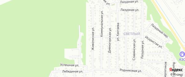 Живописная улица на карте Улан-Удэ с номерами домов