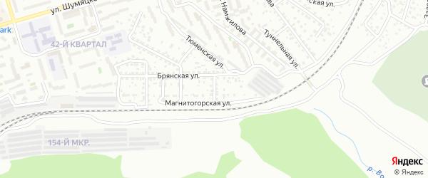 Магнитогорский переулок на карте Улан-Удэ с номерами домов