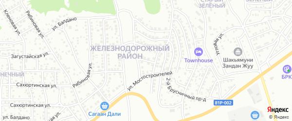 Мостостроителей 1-й проезд на карте Улан-Удэ с номерами домов