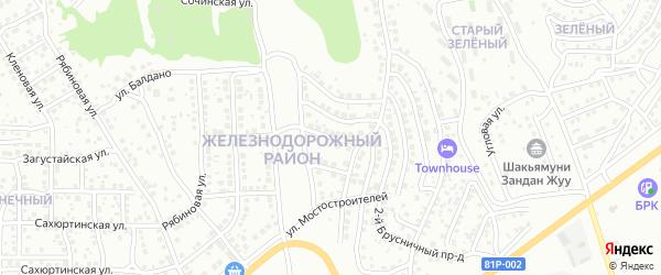 Мостостроителей 2-й проезд на карте Улан-Удэ с номерами домов