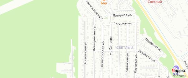 Коммунальная улица на карте Улан-Удэ с номерами домов