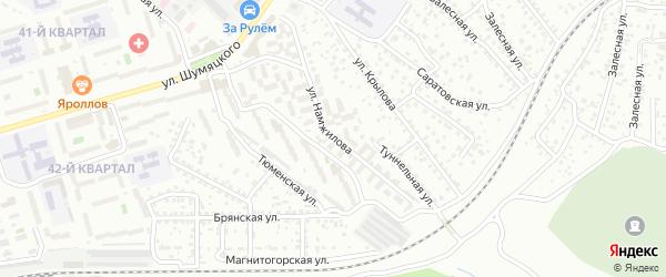 Улица Намжилова на карте Улан-Удэ с номерами домов