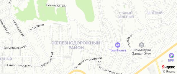 Брусничный 3-й проезд на карте Улан-Удэ с номерами домов